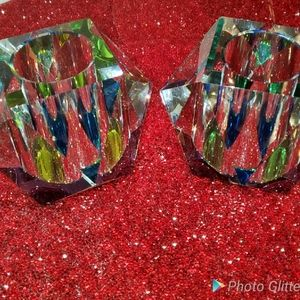 Beautiful crystal candle holders